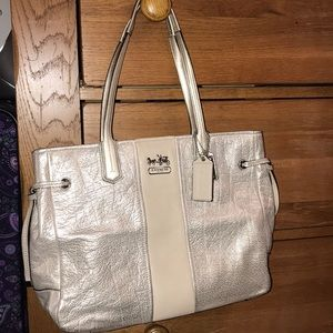 Authentic Coach Metallic Gold Bag